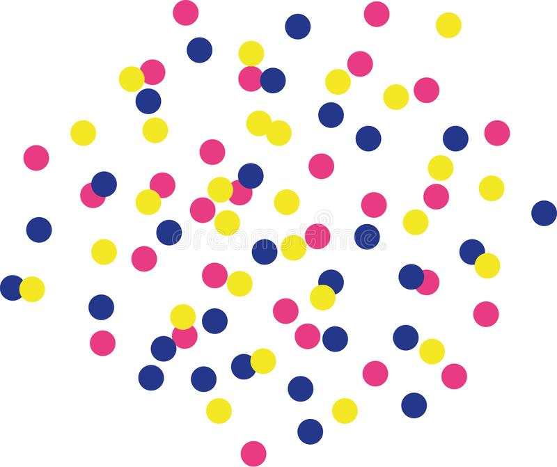 Colorfull confetti background - color changeable vector illustration