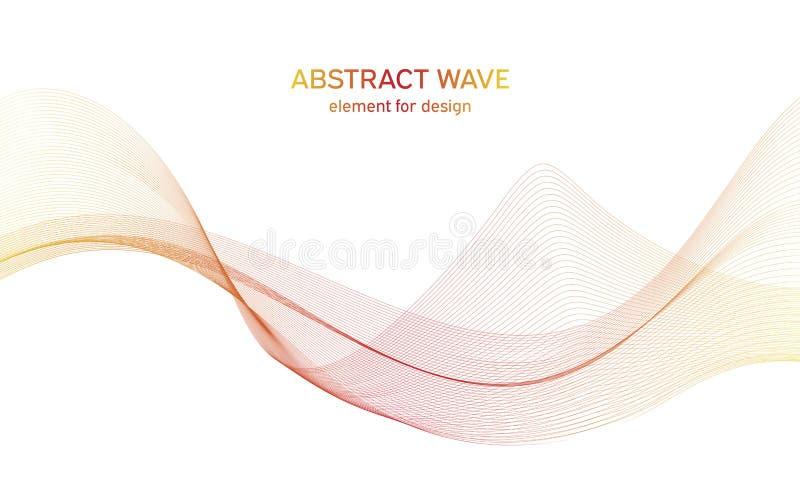 抽象colorfull挥动设计的元素 数字频率轨道调平器 风格化线艺术背景 r 免版税库存照片