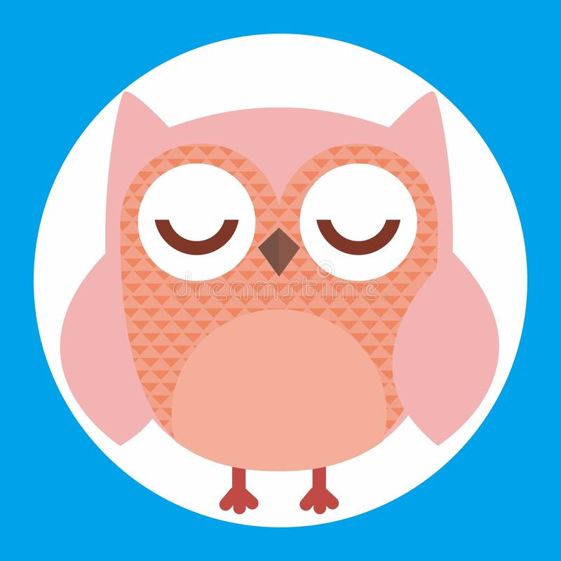 Colorfull cute owl stock images