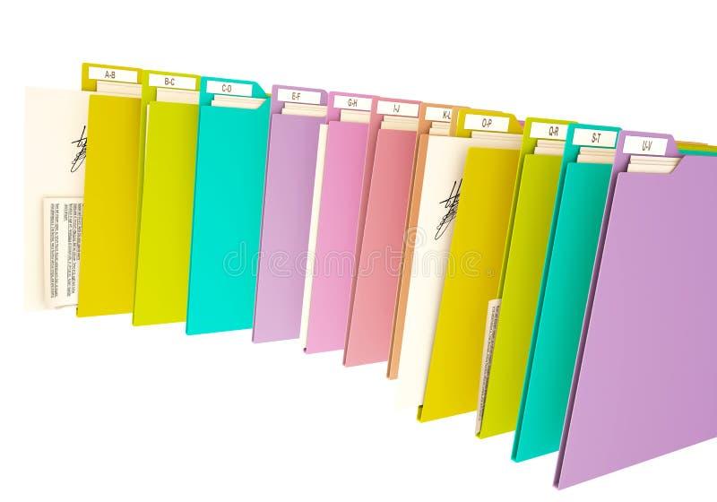 colorfull 3d Ordner, auf weißem Hintergrund lizenzfreie stockfotografie
