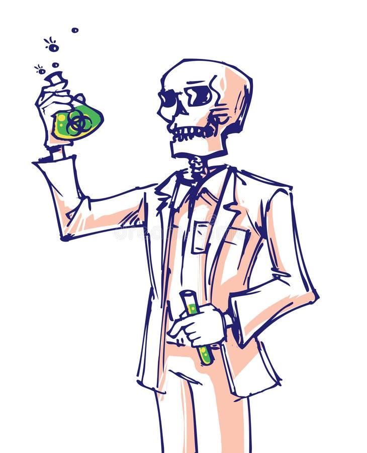 Colorfull del arte de la muerte del doctor de la historieta libre illustration