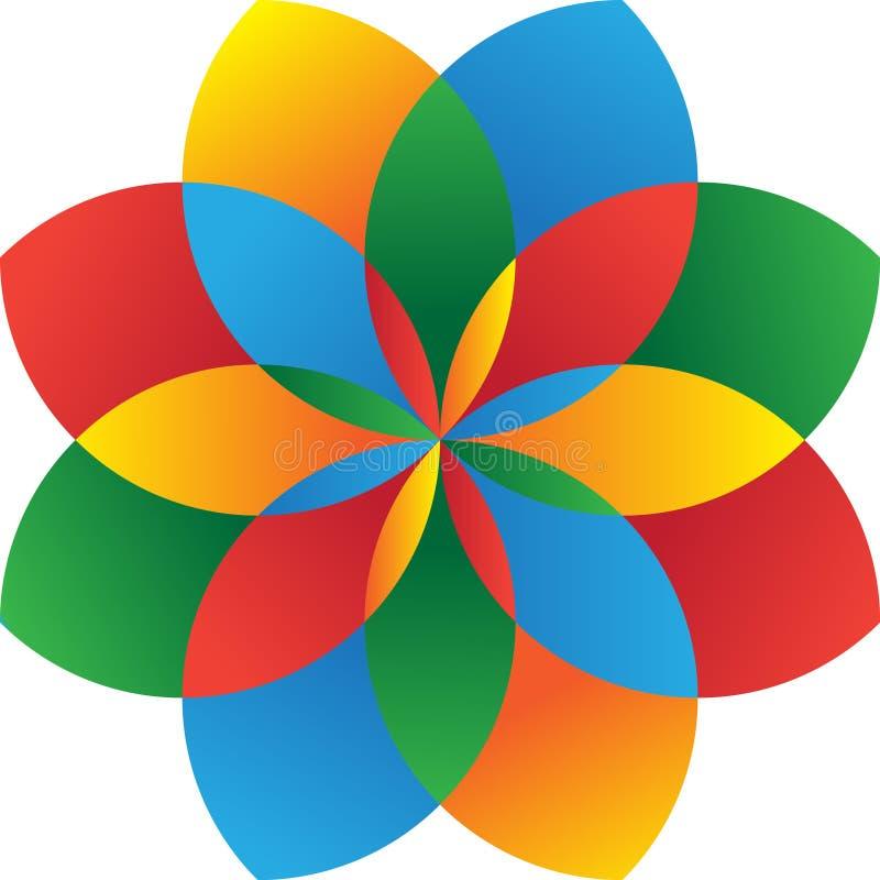 Colorfull do logotipo do vetor ilustração do vetor