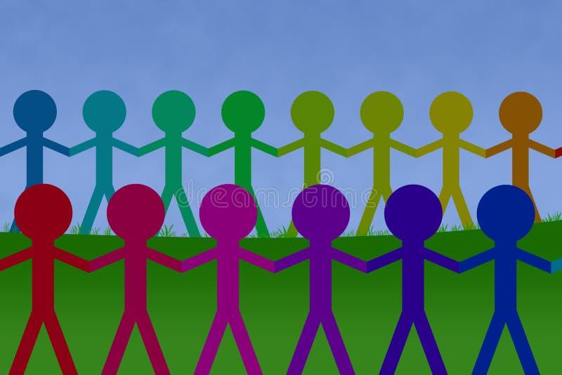 Colorfull etnic Einheitketten stock abbildung