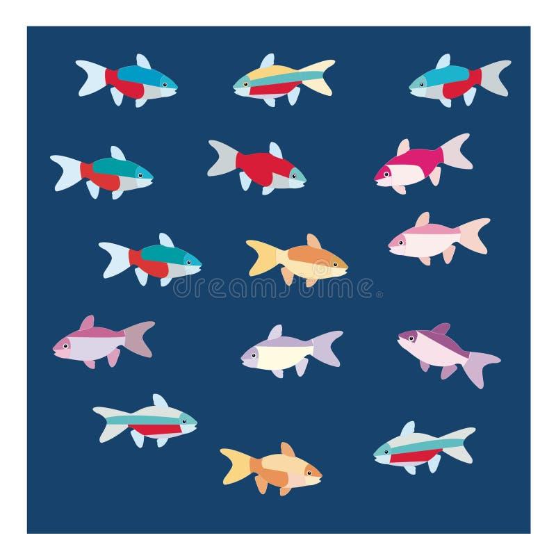 Colorfull-Fische stockfotos