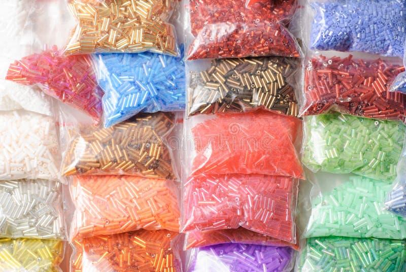 Colorfull glass pärlor royaltyfria bilder