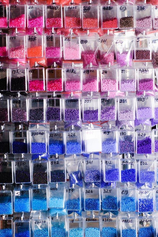 Colorfull glass pärlor fotografering för bildbyråer