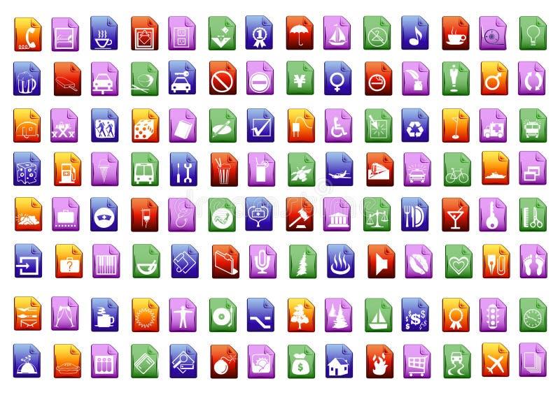 colorfull ikony wektorowe