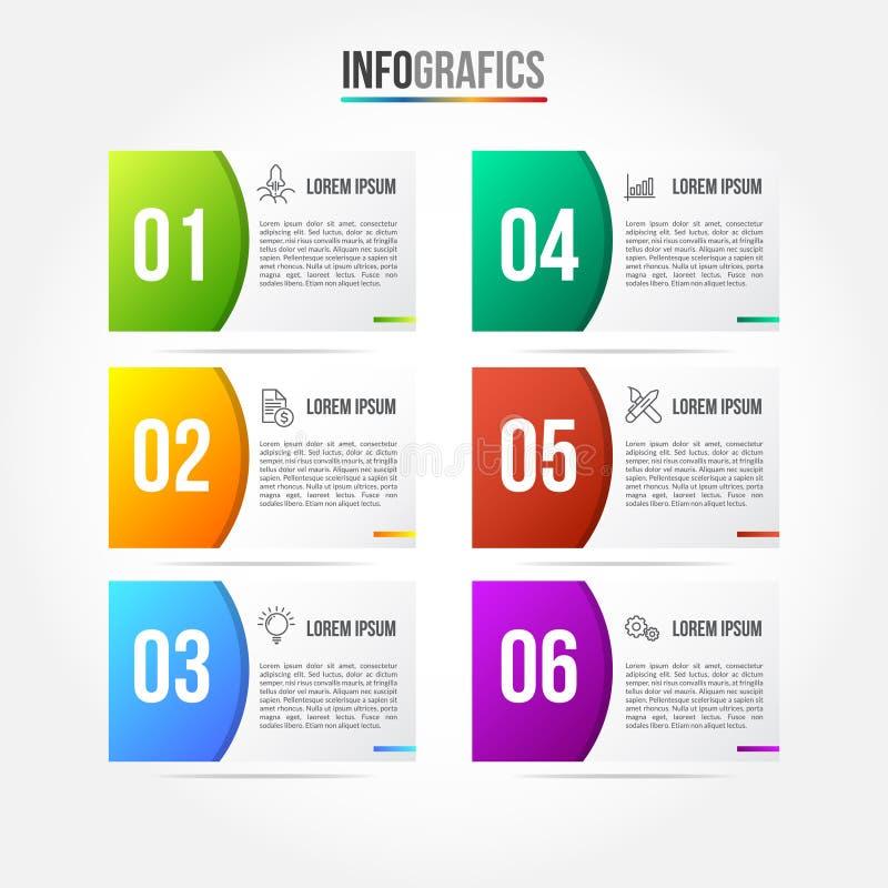 Colorfull Infographic mall royaltyfri illustrationer