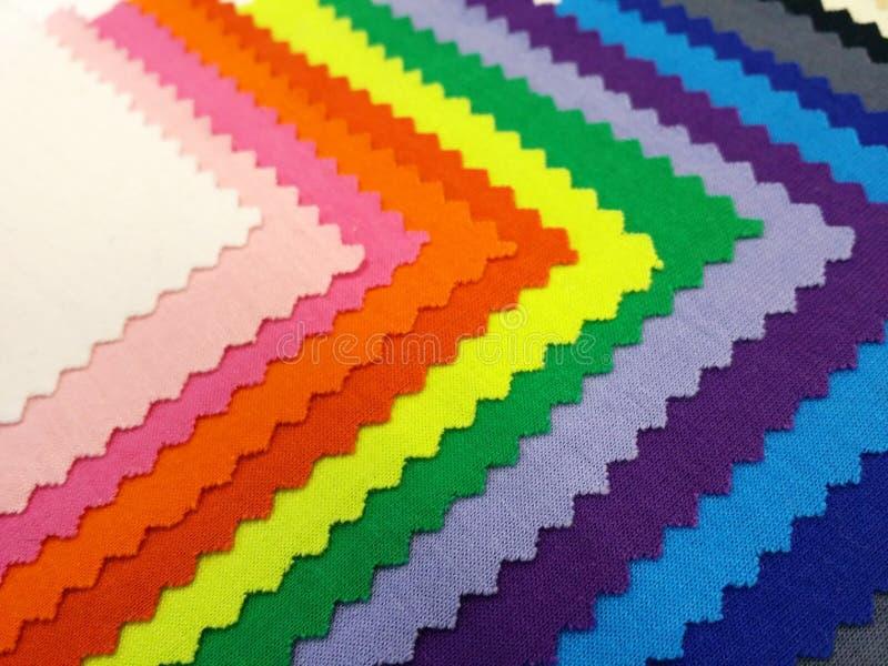 Colorfull katoenen stof stock afbeeldingen