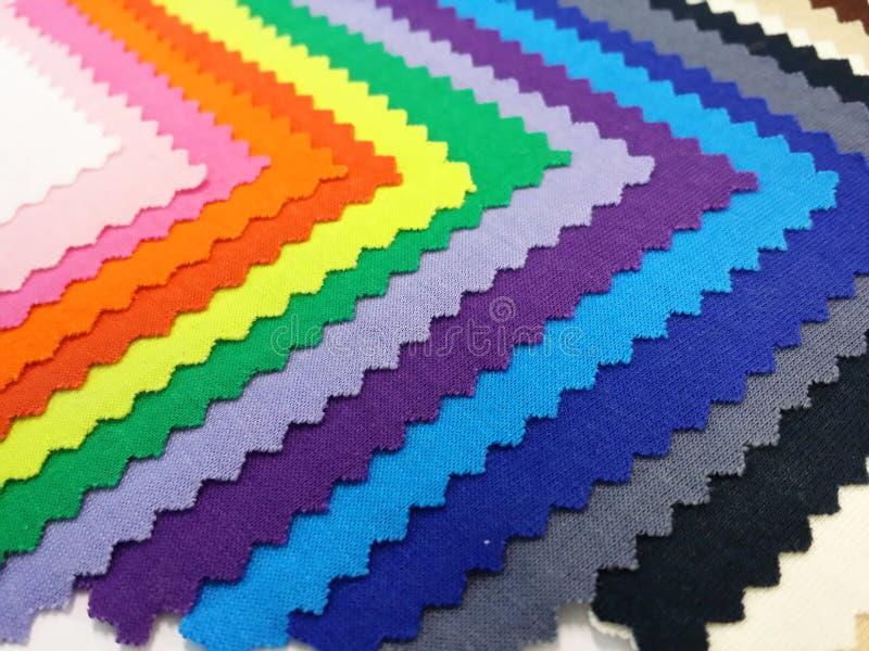 Colorfull katoenen stof stock foto