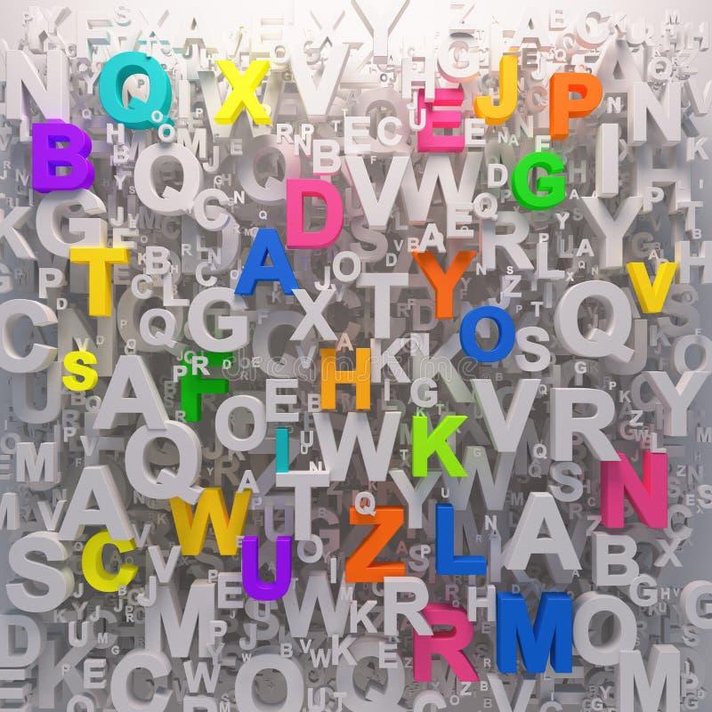 Rainbow color Alphabet background stock illustration