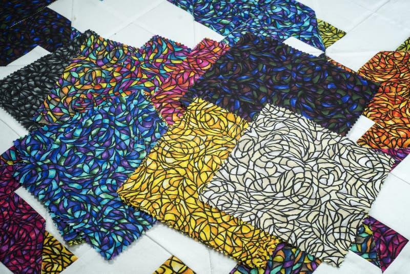 Colorfull materiels royaltyfri bild