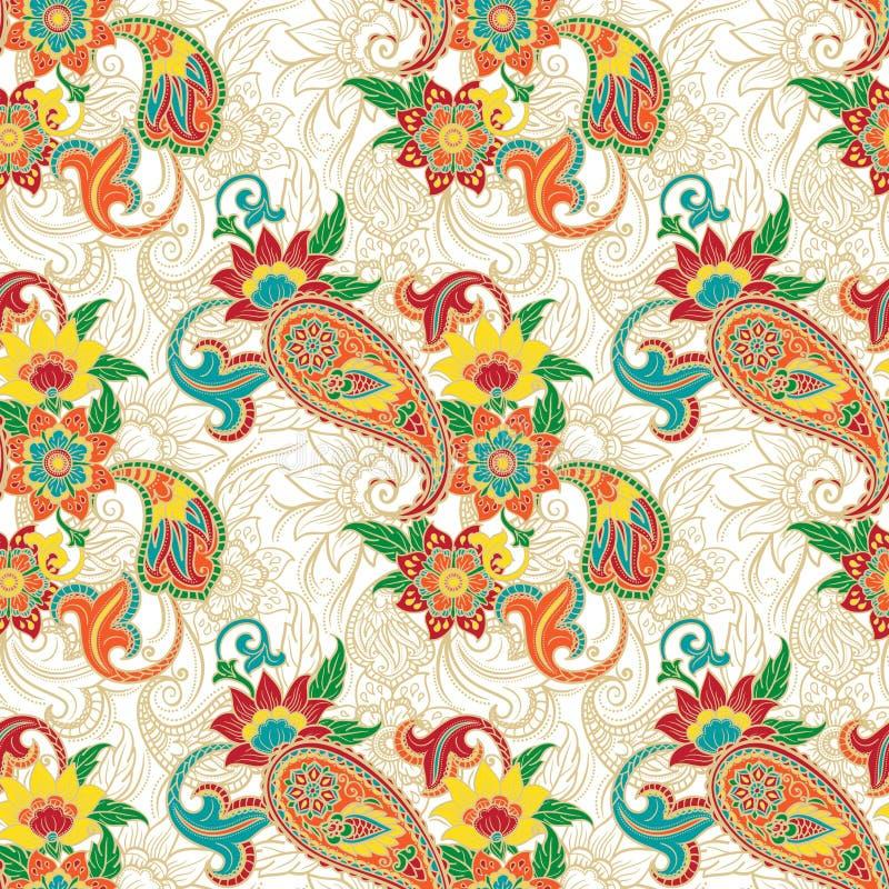 Colorfull Paisley wzór royalty ilustracja