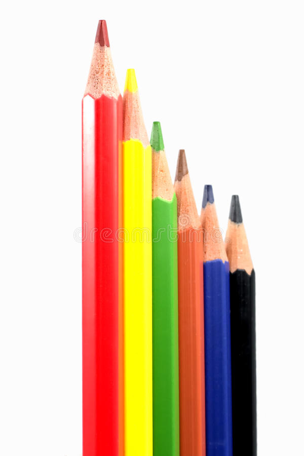 Colorfull pens. On a white background. Photo taken on: March 03th, 2016 royalty free stock photo