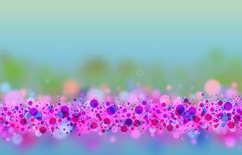 Colorfull puntea el fondo del arte stock de ilustración