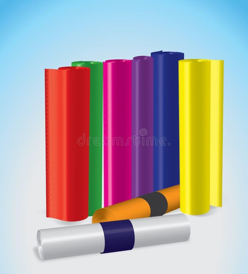 Colorfull-stricker Papier lizenzfreie stockfotos
