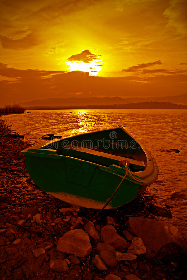 Colorfull sunset stock image
