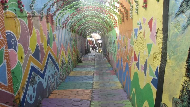 Colorfull tunnel royalty free stock image
