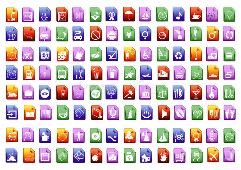 Colorfull vector icons stock photo