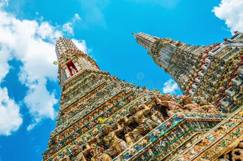Colorfull Wat Arun, Бангкок, Таиланд стоковое изображение rf