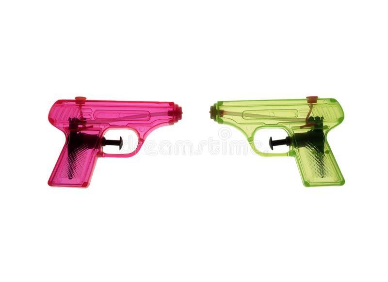 Colorfull Waterguns Stock Photography