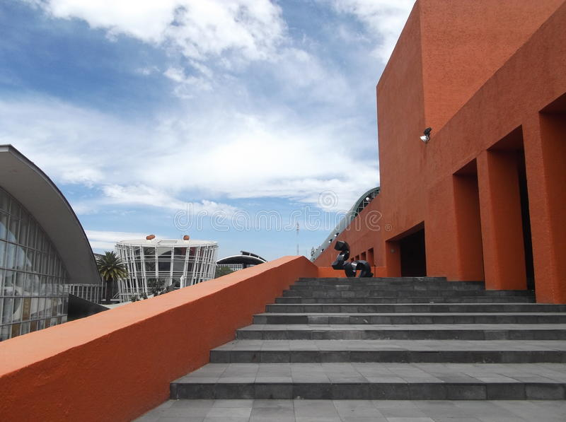 Colorfull widok w mexicokulturalnym centrum fotografia stock