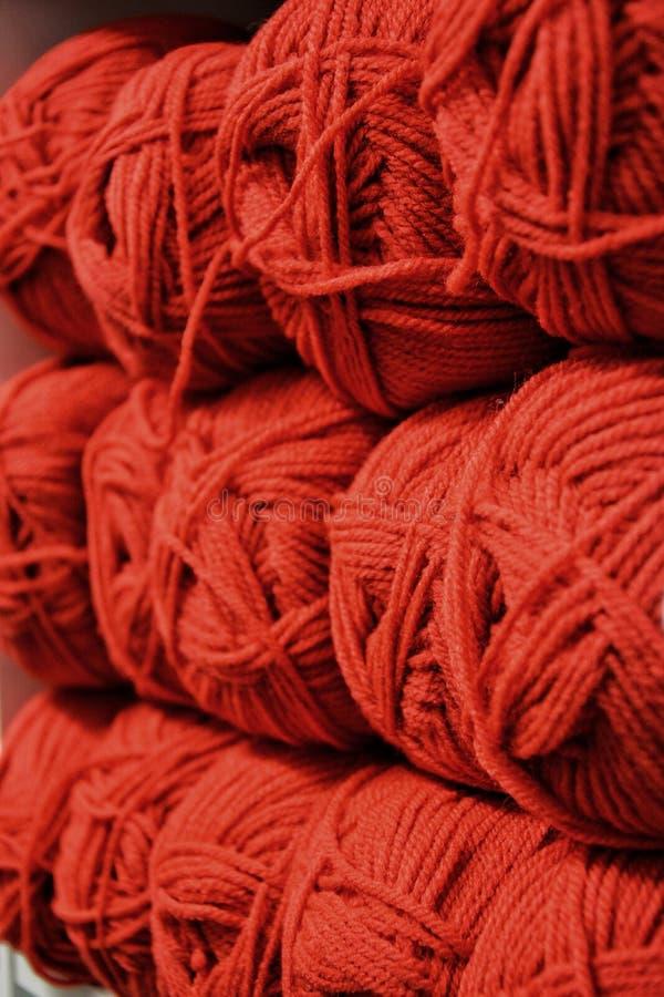 Colorfull woolen skeins zdjęcie stock