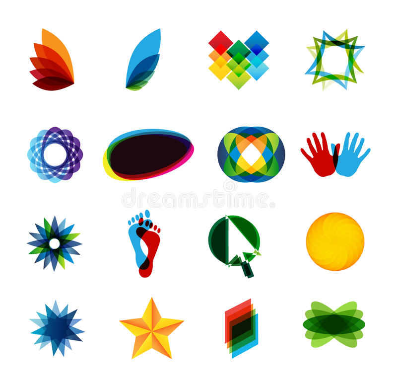 colorfullelementlogo royaltyfri illustrationer