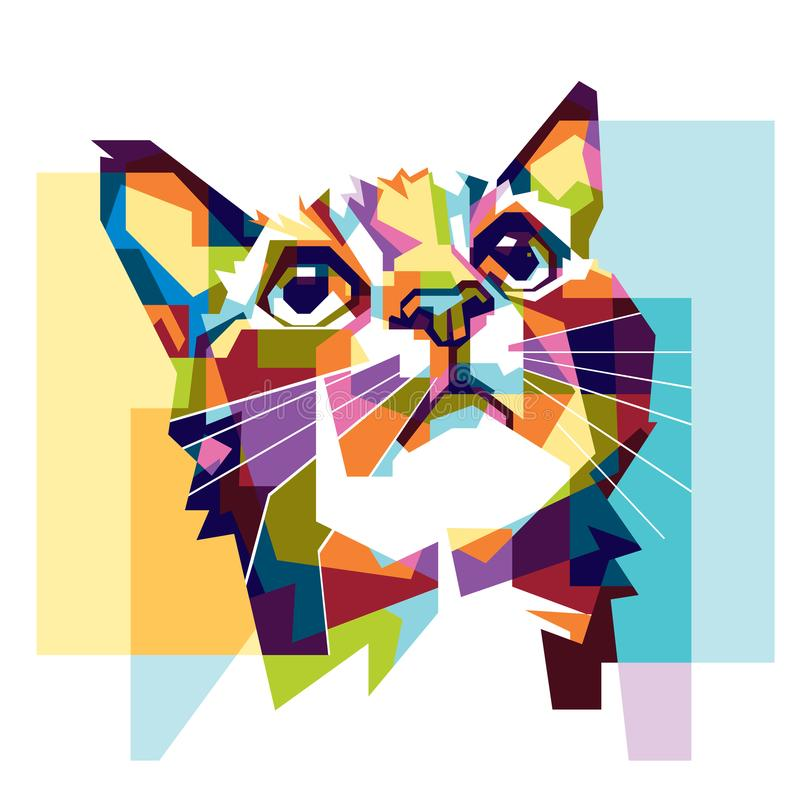 Colorfully cat hope stock photos