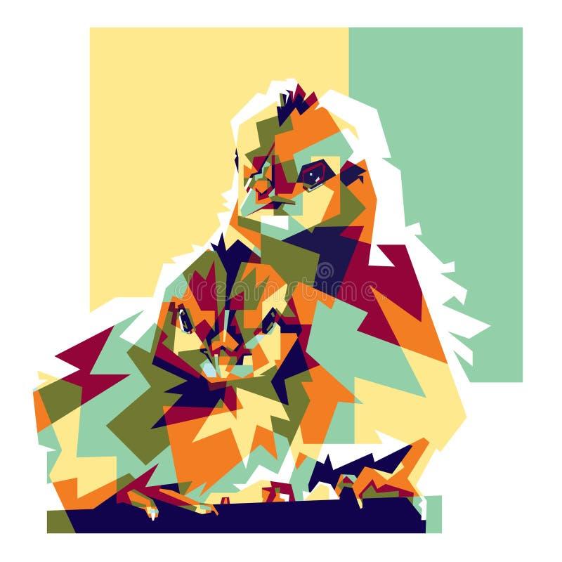 Colorfully illustrazione dei pulcini illustrazione di stock