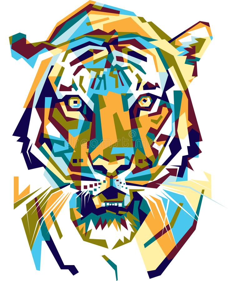 Colorfully tiger royalty free stock image