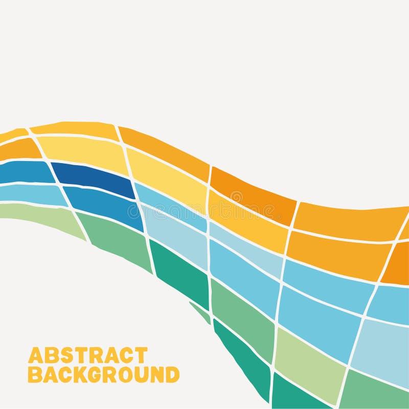 Colorfully vriden vektorbakgrund royaltyfri illustrationer