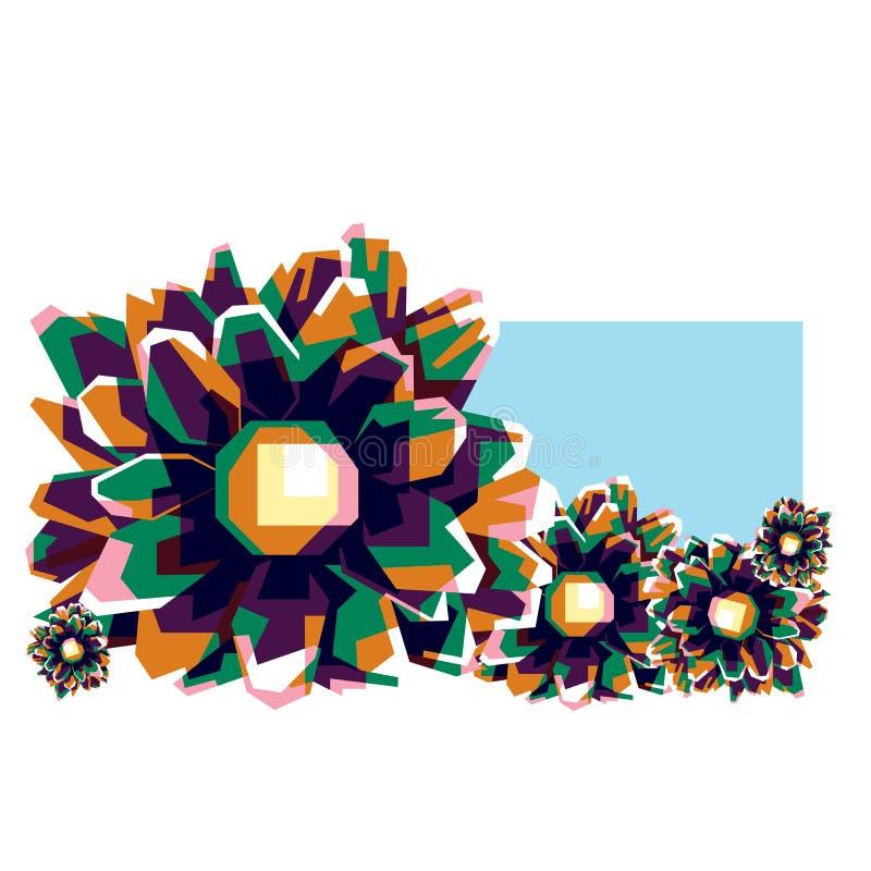 Colorfully wonderfull Bloemen royalty-vrije stock afbeeldingen