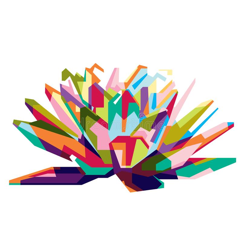 Colorfully wonderfull Lotus stock foto's