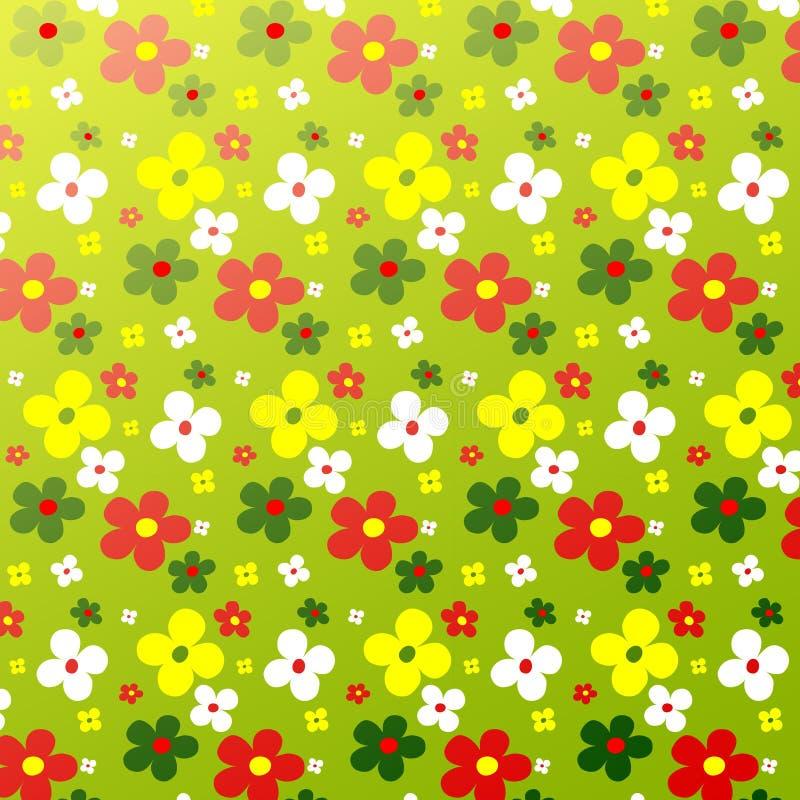 Colorfulness simple del estampado de plores lindo libre illustration