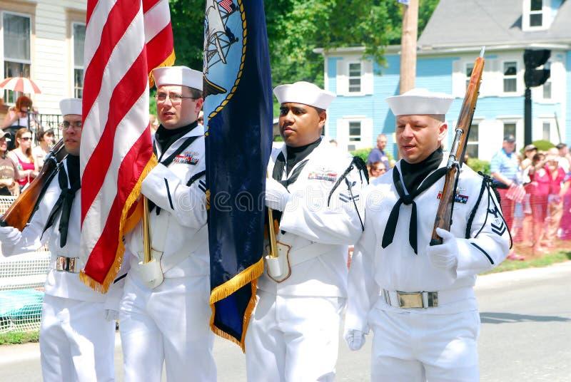 colorguard ναυτικό εμείς στοκ εικόνα