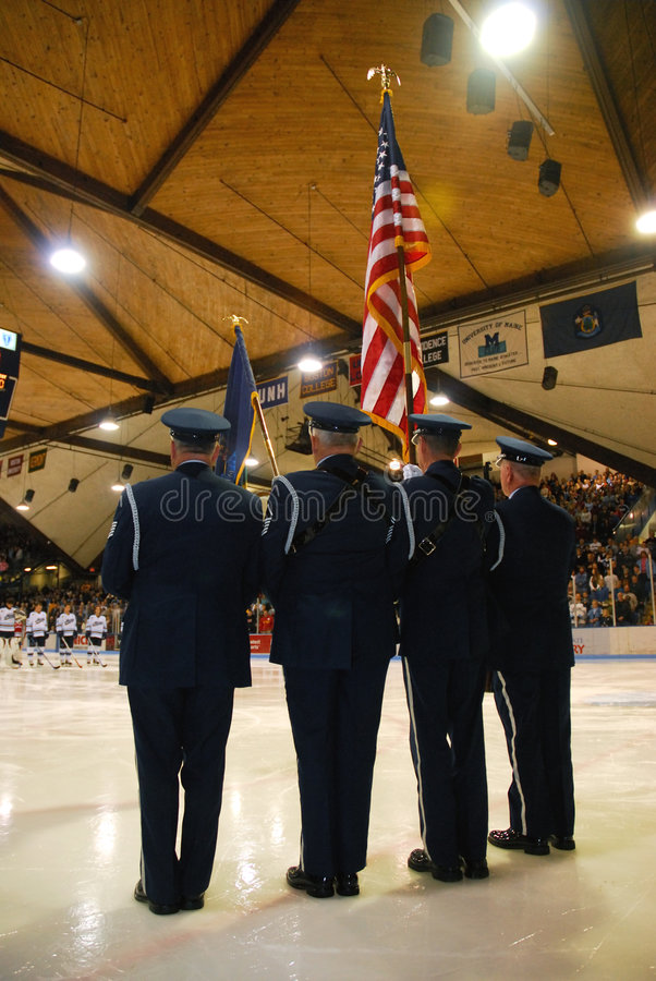 Download Colorguard stock photo. Image of team, hockey, national - 1502750