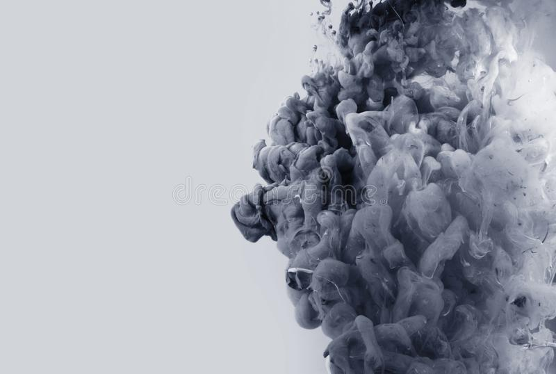 Colori acrilici in acqua sottragga la priorità bassa immagini stock
