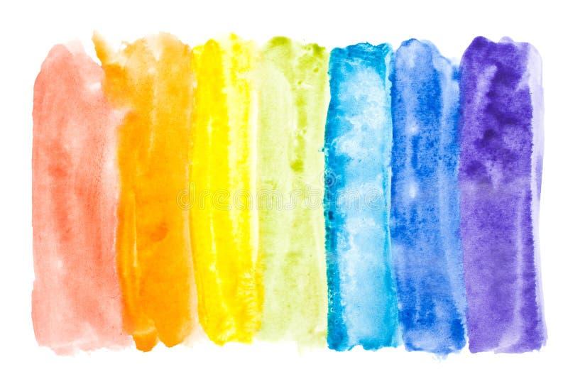 Colori astratti del rainbow dell 39 acquerello immagine stock - Immagine del mouse a colori ...