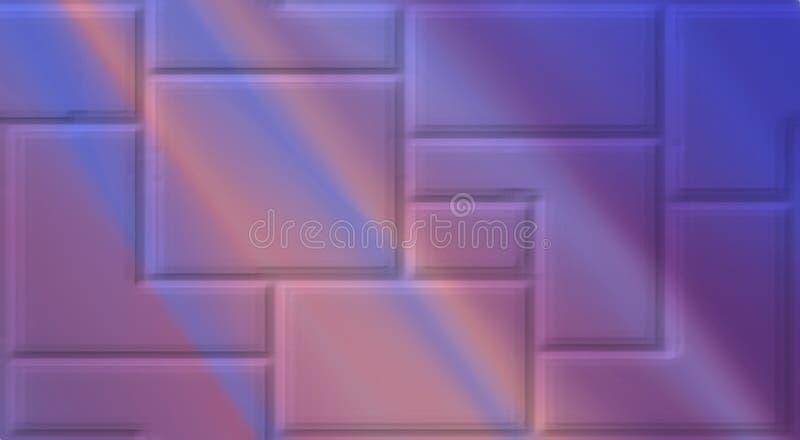 Colori astratti dell'arcobaleno sulle strutture fondo, carta da parati di una parete illustrazione di stock
