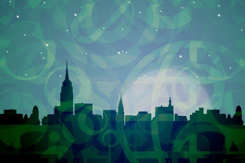Colori astratti di New York illustrazione vettoriale