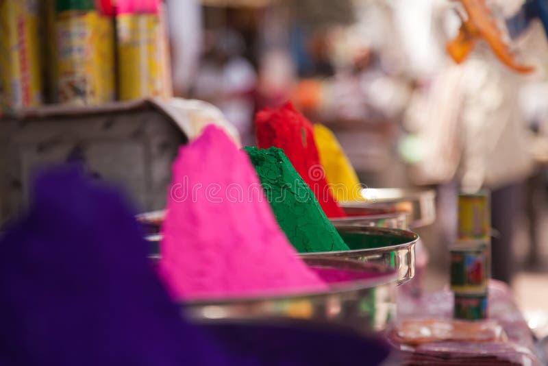 Colori completi di colore del holi fotografia stock libera da diritti