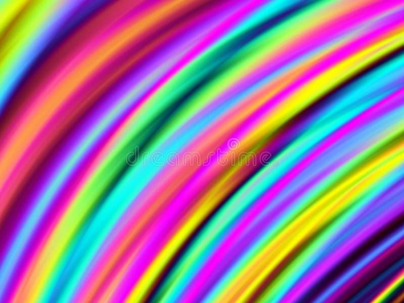 Colori curvi luminosi illustrazione di stock