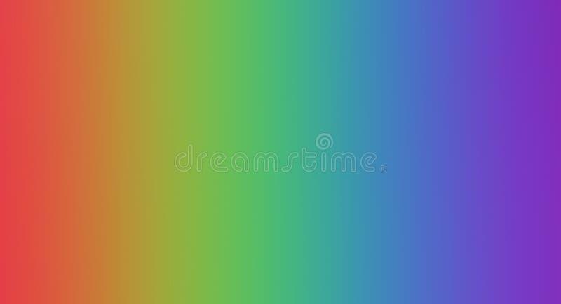 Colori del Rainbow concetto di colore in natura foglia di acero variopinta luminosa di autunno Copi gli spazi illustrazione vettoriale