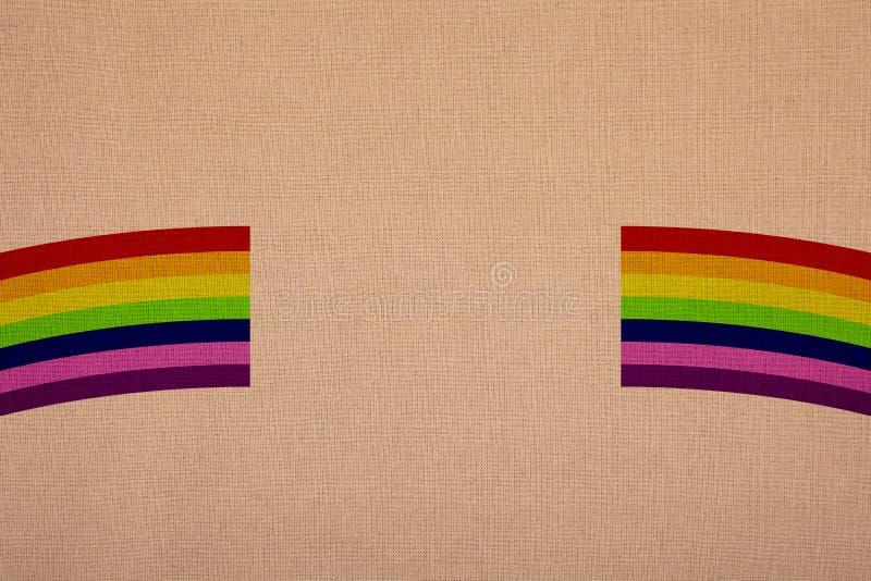 Colori dell'arcobaleno su tela, vendita al dettaglio ad un ingrandimento immagini stock