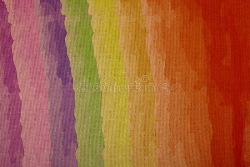 Colori dell'arcobaleno su tela, vendita al dettaglio ad un ingrandimento immagine stock