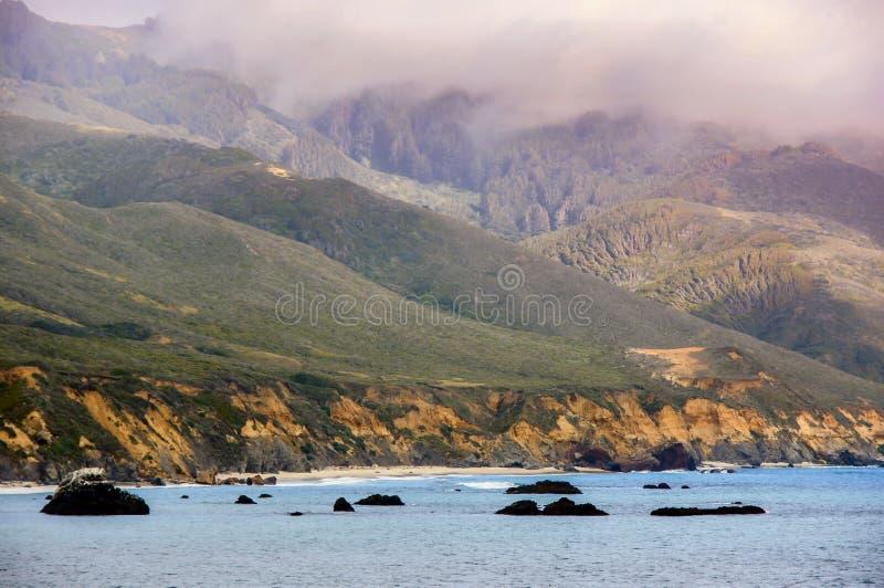 Colori della costa di Big Sur fotografia stock