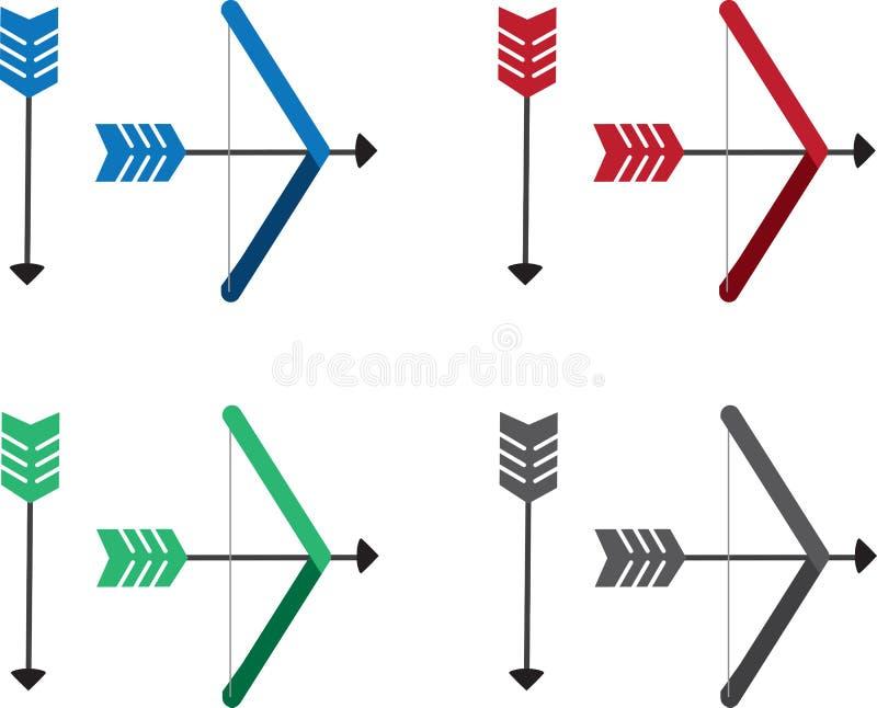 Colori della freccia e dell'arco illustrazione di stock