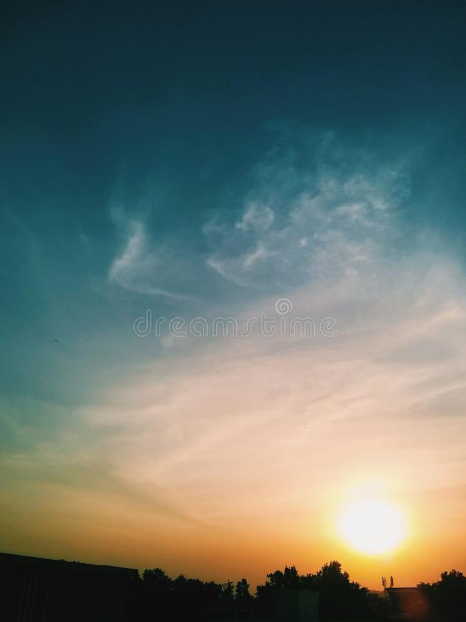 Colori della miscela del cielo fotografia stock