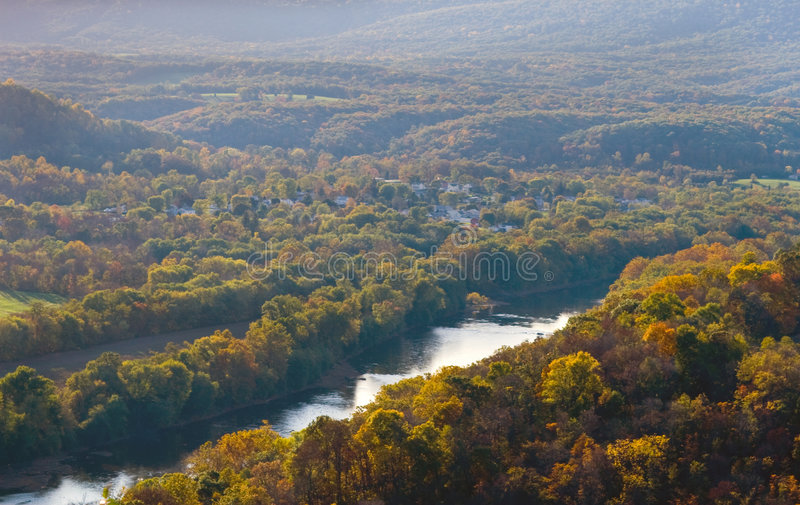 Colori di autunno della natura di WV fotografia stock libera da diritti